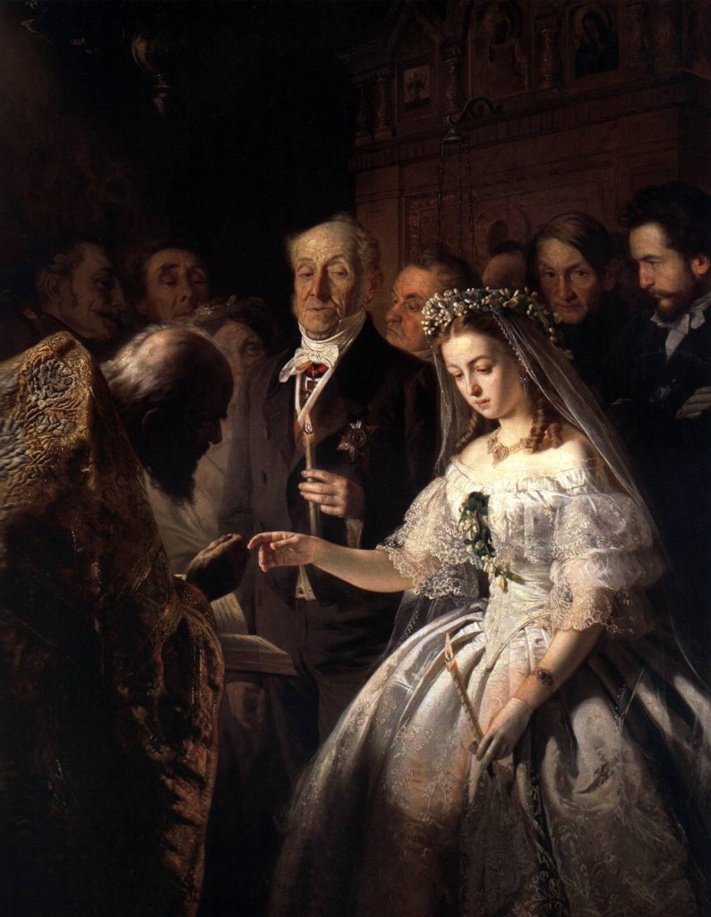 Неравный брак. 1862. Василий Пукирев