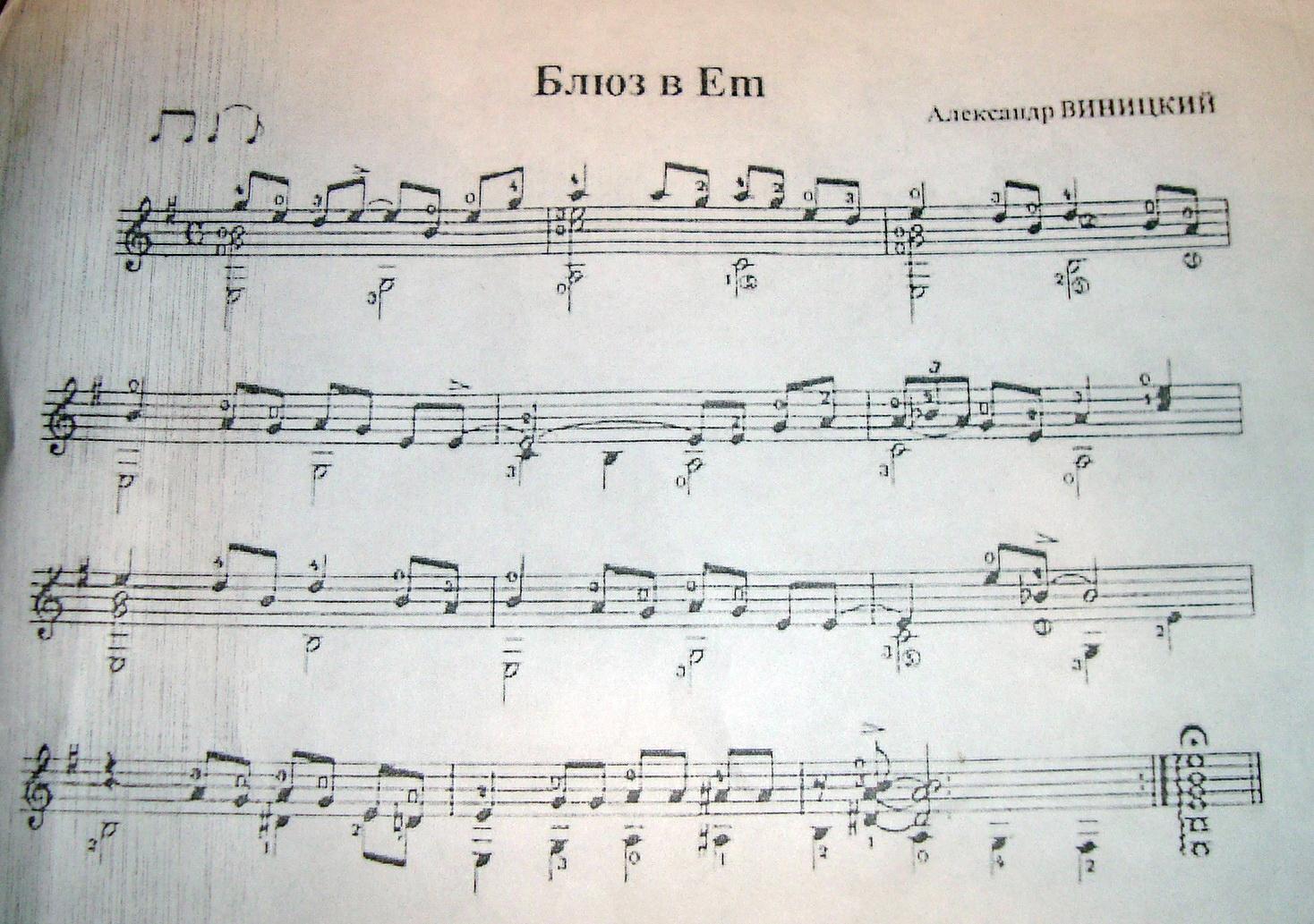 Блюз в Em. Александр Виницкий