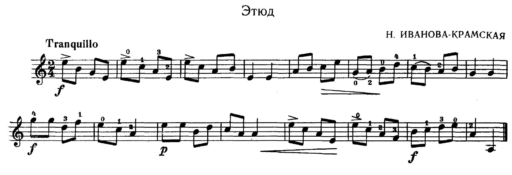 Этюд с пояснениями. Иванова-Крамская